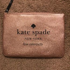 Kate spade glitter clutch. Gold Black